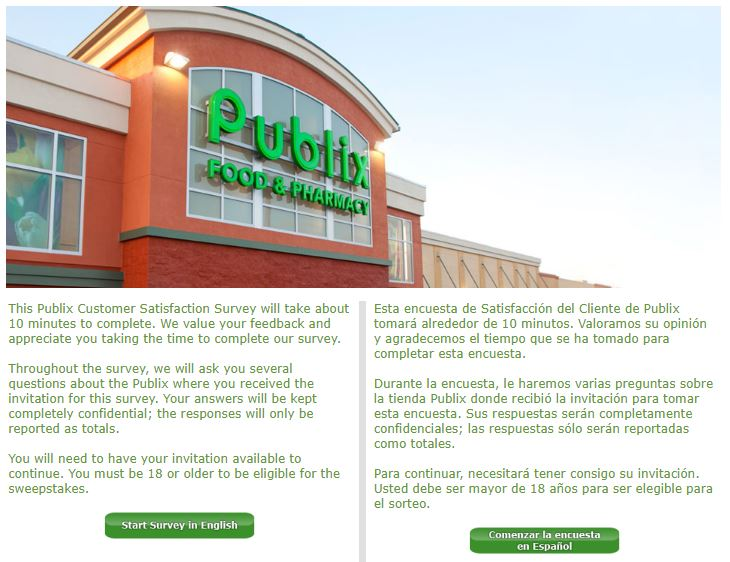 Publix Survey Step By Step Guide