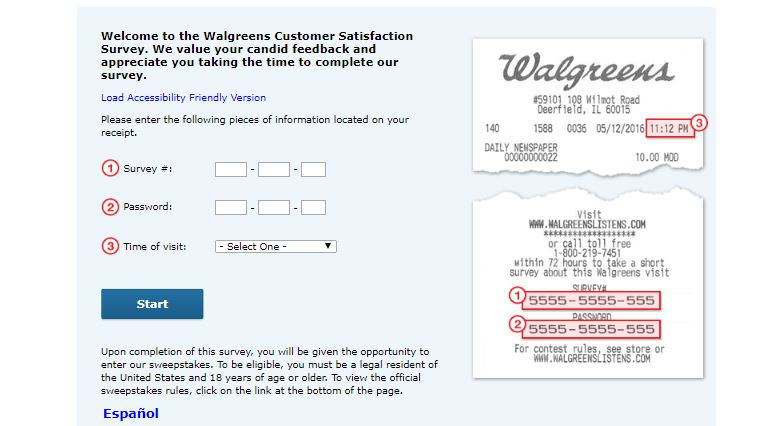 Walgreens Survey Step By Step Guide