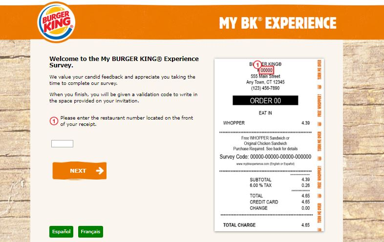 www mybkexperience com Burger King Survey Step By Step Guide