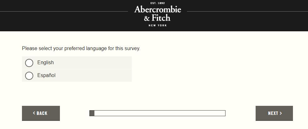 Abercrombie & Fitch Survey Step By Step Guide 1