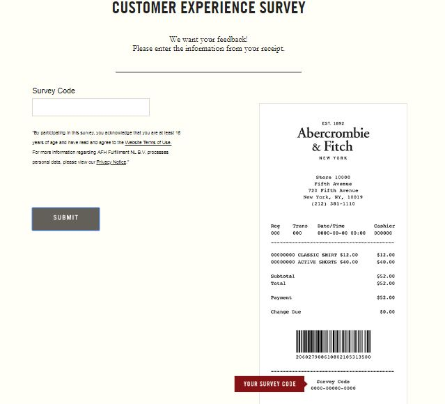 Abercrombie & Fitch Survey Step By Step Guide 2