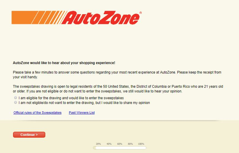 Autozone Survey Step By Step Guide 3
