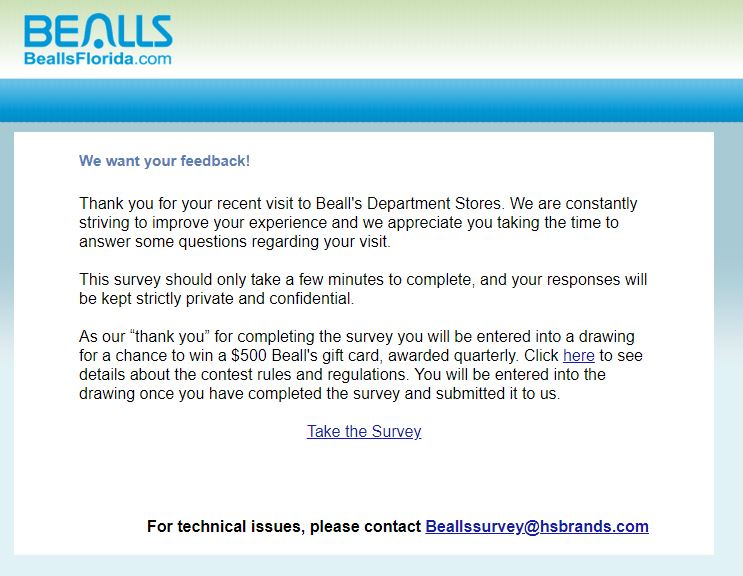 Bealls Florida Survey Step By Step Guide 1
