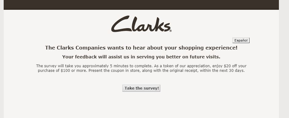 Clarks Customer Satisfaction Survey guide 1