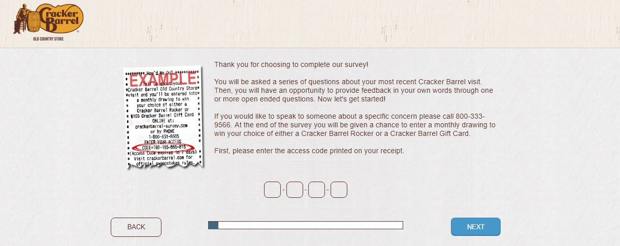 Cracker Barrel Survey Sweepstakes guide