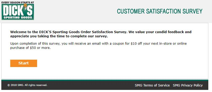 DICKS Sporting Goods Survey Step By Step Guide