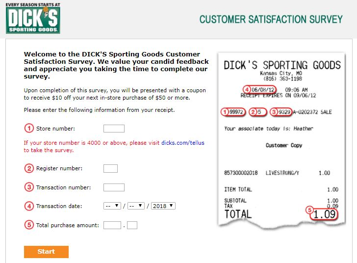 DICKS Sporting Goods Survey Step By Step complete Guide