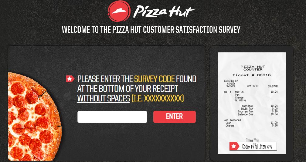 Pizza Hut Survey Step By Step Guide 2