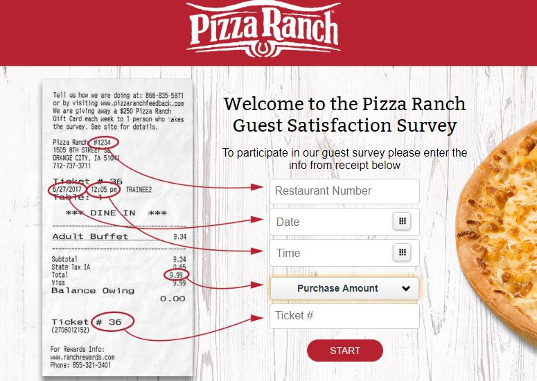 Pizza Ranch Guest Satisfaction Survey guide