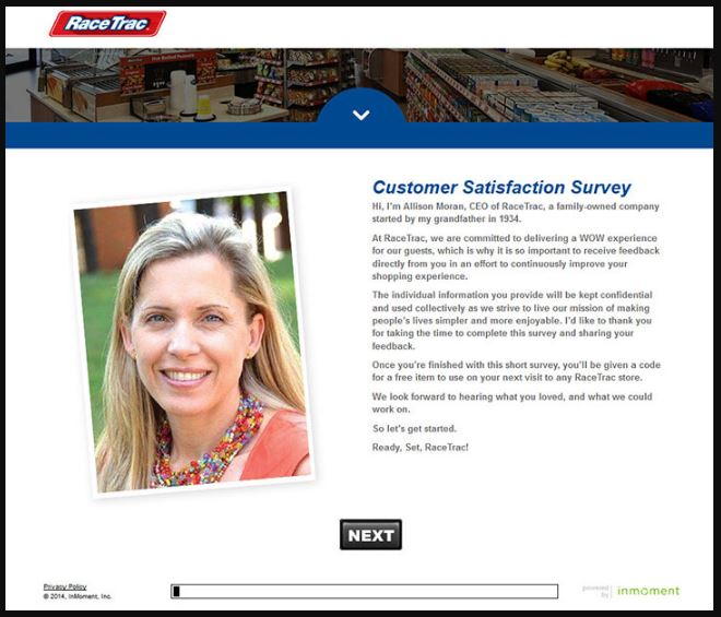 Racetrac Customer Satisfaction Survey guide