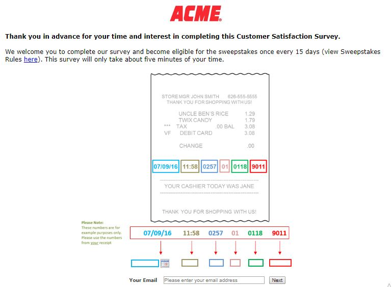 ACME Survey Step By Step Guide 2