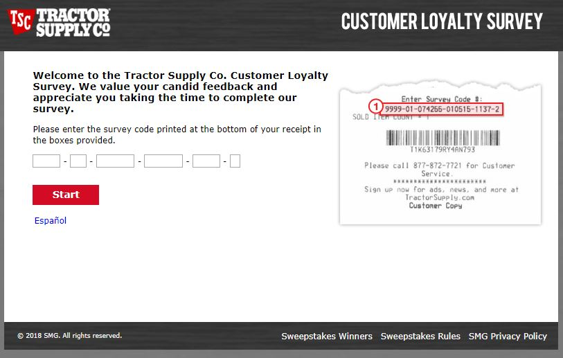 Tractor Supply Co. Survey Step By Step Guide