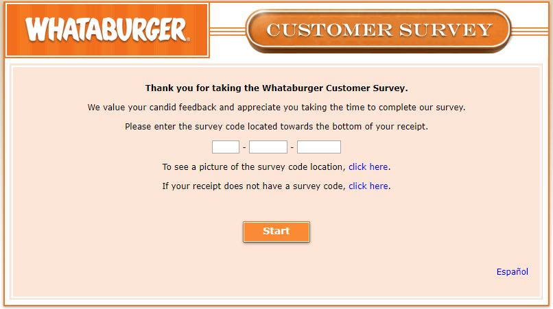 Whataburger feedback survey guide