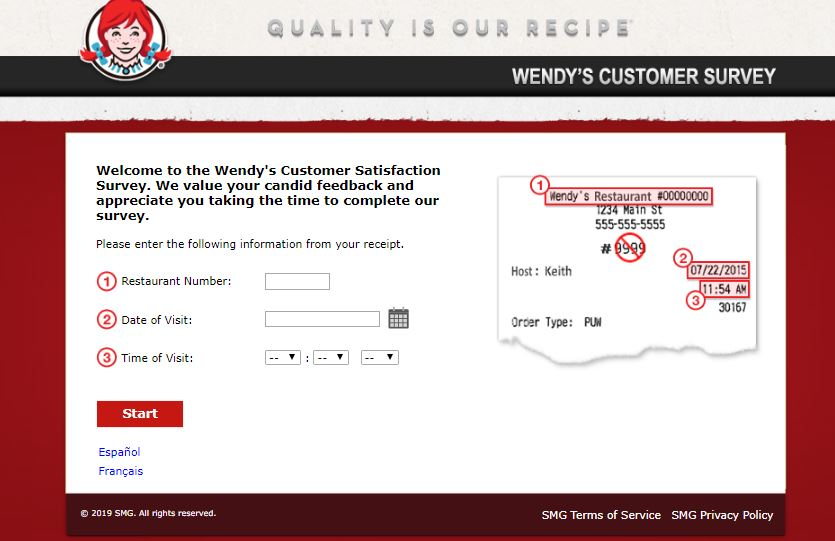 Wendys Customer Satisfaction Survey