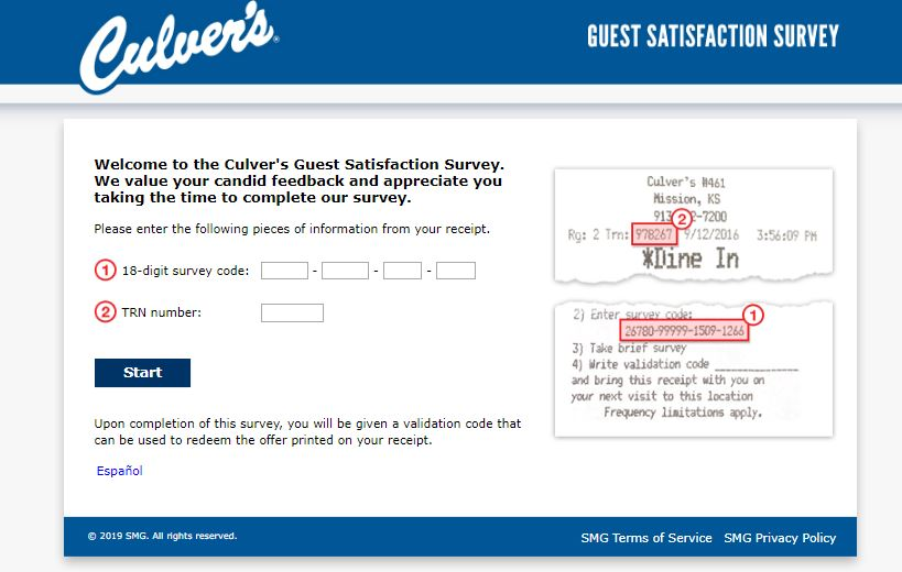 Culvers Survey