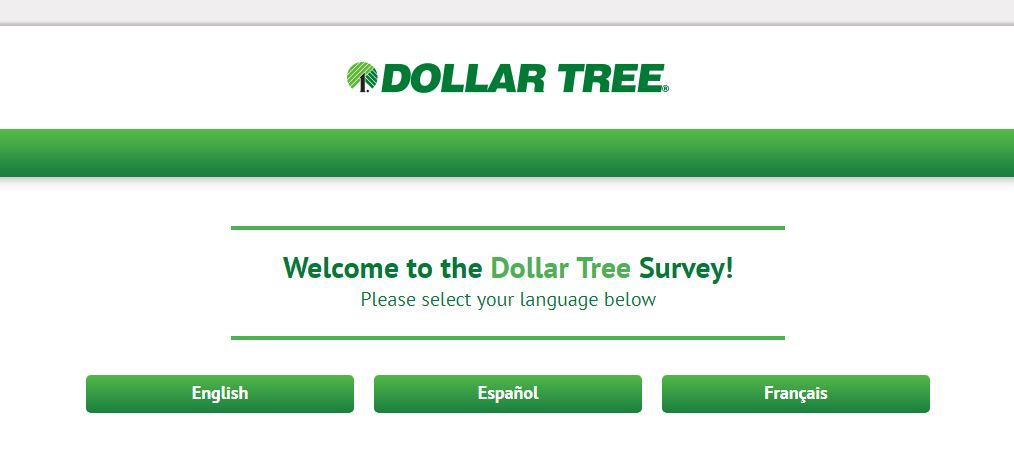 Dollar Tree Survey step 1