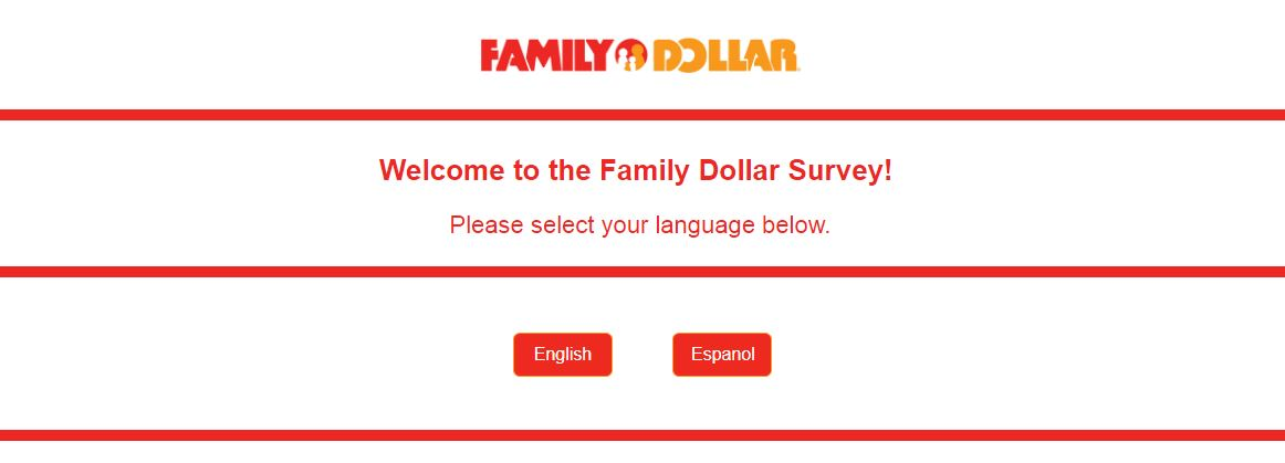 Family Dollar Survey step 1