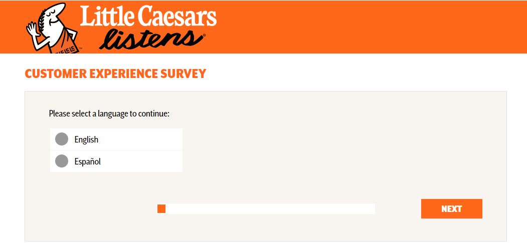 Little Caesars Listens Survey step 1