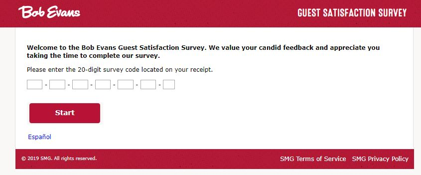 Bob Evans Customer Satisfaction Survey