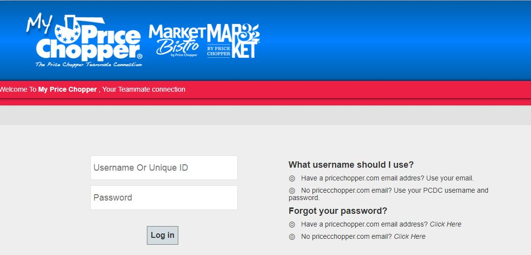 Price Chopper login